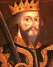 King William I The Conqueror (1066-1087). House of Normandy. 25th great-grandfather to Queen Elizabeth II. In 1072 William led an invasion that forced King Malcolm of Scotland to surrender hostages and swear fealty. Completed the establishment of feudalism in England, compiling detailed records of land and property in the Domesday Book and kept the barons firmly under control. Died in Rouen after a fall from his horse and is buried in Caen, France. He was succeeded by his son William II.