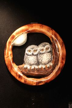 Wood Carving of Owls in Pine by DonnaMariesArt on Etsy, $125.00