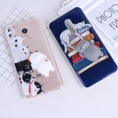 Squishy animal Phone Case 3D Cat Soft Case Lovely Cases For Xiaomi Redmi 4X 4A 4 Pro Note 4 Soft TPU Back Cover Capa #Affiliate