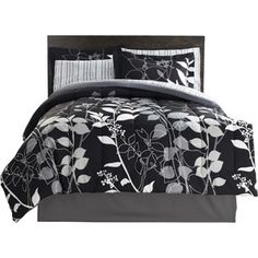 Hometrends Orkaisi Bed in a Bag Bedding Set//Includes: Reversible Comforter, Flat sheet,Standard pillowcase, Standard pillow sham, Fitted sheet, Bedskirt.   Would look cute with a different colored sheets, like pink, purple, or blue;  $44.88