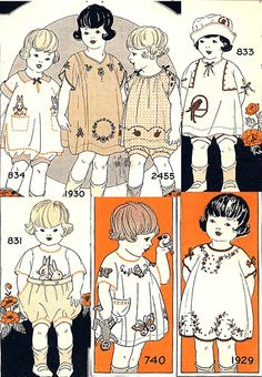 detail of page 4 Childrens Sewing Patterns, Doll Clothes Patterns, Doll Patterns, Vintage Kids Clothes, Vintage Children, Vintage Outfits, One Clothing, Historical Clothing, 1900 Clothing