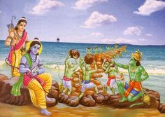 A poem narrating how a tiny squirrel helped Lord Rama! Ganesha Art, Krishna Art, Radhe Krishna, Ramayana Story, Lord Sri Rama, Lord Rama Images, Hanuman Images, Lord Krishna Wallpapers, Astrology