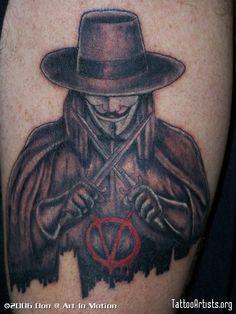 V For Vendetta « { Arm Tattoos } - Tattoo Artists.org