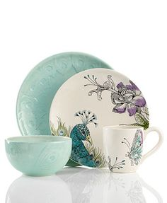 Edie Rose by Rachel Bilson Dinnerware, Peacock Collection