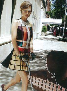 Karlie Kloss shot by Arthur Elgort for Vogue Japan