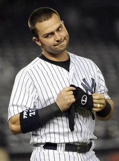 GAME 42: Monday, May 21, 2012 - New York Yankees' Nick Swisher reacting after striking out to end the eighth inning of a baseball game against the Kansas City Royals at Yankee Stadium, in New York. The Royals won 6-0. (AP Photo/Bill Kostroun, File)