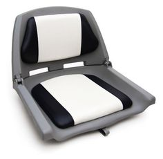 Кресло мягкое складное для разборного катамарана  Складывающееся кресло изготовлено из прочного пластика и оснащено съемными мягкими подушками.   Компактное сидение фиксируется в сложенном состоянии ремешком
