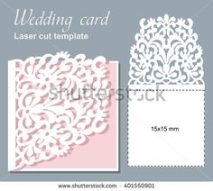 Wedding Invitation Pocket Fold Envelope X Svg Template Die Cut