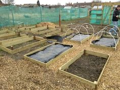 10 raised beds built just need to get them into the ground and filled up