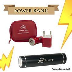 power bank cargador portatil mobil cargar rojo negro batería