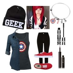 """""""Let Me Be A Geek"""" by peter-pan-in-wonderland ❤ liked on Polyvore featuring River Island, Vans, Lancôme and Givenchy"""