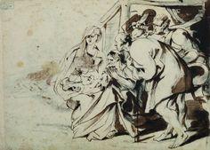 Van Dyck, Adoration des bergers, Bergues, Musée du Mont-de-Piété