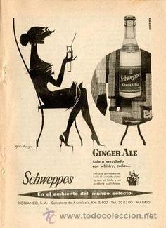Página de publicidad Original *SCHWEPPES* De Agencia Publicidad ANCEMA - Año 1959