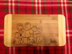 Family Guy Custom Cutting Board on Etsy, $25.00 CAD