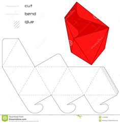Illustration about Template Present box triangle cut ting assembly. Illustration of figure, paper, kind - 11540598 Paper Crafts Origami, Origami Box, Paper Quilling, Cardboard Jewelry Boxes, Cardboard Paper, Solid Geometry, Pop Up Card Templates, Gift Wraping, Certificate Design