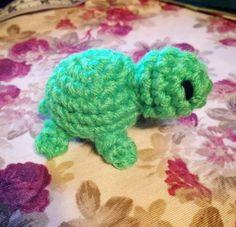 Crochet Glowworm Amigurumi Mini Turtle Plush