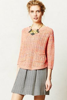 Marled Swing Sweater #anthropologie ;; this color is beautiful <3