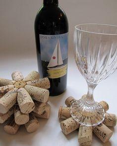 Wine Cork Coasters - Posavasos de corchos reciclados