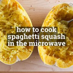 Have you ever wondered how to cook spaghetti squash in the microwave? Im going to show you just how easy it is to cook spaghetti squash. Plus Im going to give you a few delicious recipes to use with your perfectly cooked spaghetti squash. Spaghetti Squash Oven, Squash In Oven, How To Cook Squash, Acorn Squash, Speggetti Squash Recipes, Veggie Recipes, Vegetarian Recipes, Kitchens, Veggie Food