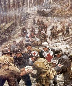The Battle of Hurtgen Forest.  The lines fluctuated so much in the fighting that eventually medics stopped evacuating back and forth- US Army and German medics simply operated the same field hospitals alongside each other.