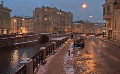 The Moyka river embankment, St. Petersburg
