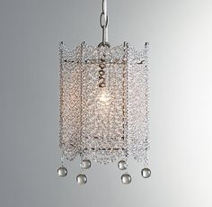 Coco Crystal Accent Chandelier $238