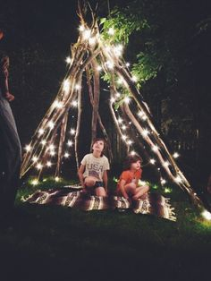 Made the kids a Kids Fun, Cool Kids, Teepees, Glamping, Homemade, Garden, Diy, Ideas, Bricolage