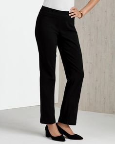 The LOOK Slim Straight-Leg Pant -- Women's slimming, easy-fit pull-on pant.
