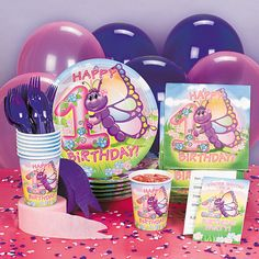 Butterfly 1st Birthday Party Supplies - OrientalTrading.com