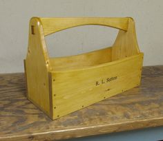 Personalized Tool Caddy Tool Box Garden Tote by Smithwick & Co, LLC
