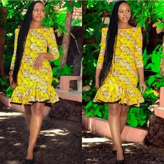 Style Inspiration: Latest Ankara Styles, African print fashion, Ankara fall fash… Remilekun - African Styles for Ladies Short African Dresses, Ankara Short Gown Styles, Short Gowns, Latest African Fashion Dresses, African Print Dresses, African Print Fashion, Africa Fashion, African Prints, Ankara Fashion