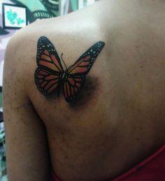 "290 curtidas, 3 comentários - 💀F L E M B E R S T A T T O O💀 (@flemberstattoo) no Instagram: ""Una hermosa mariposa a color 👏👏👏😈 #butterfly #mariposa #tattoocomunity #tattoos #butterflytattoo…"""