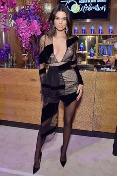 Golden Globes 2018 Afterparty Dresses - Kendall Jenner in Alexandre Vauthier