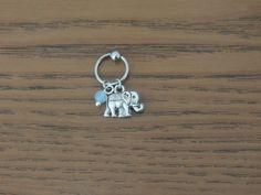 Éléphant captif de perle Hoop ; Cartilage Hoop ; Tragus Piercing ; Helix Piercing ; sur Etsy