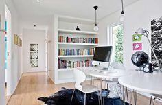 Örsviksvägen 64 | Åberg & Lawe Bokhylla Corner Desk, Furniture, Home Decor, Corner Table, Decoration Home, Room Decor, Home Furnishings, Home Interior Design, Home Decoration