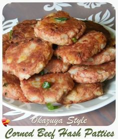 Best local okazuya style corned beef hash patties. Get more island style recipes here.