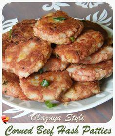 Best local okazuya style corned beef hash patties. Get more island style recipes here.