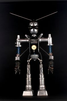 Magneto Found Object Robot Assemblage Sculpture By by Adoptabot. $695.00, via Etsy.