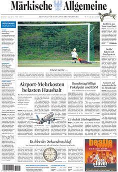 Samstag, 30. Juni 2012 - Der beste Lärmschutz für die Anwohner des Flughafens in Schönefeld soll kommen - das kostet natürlich. » http://www.maerkischeallgemeine.de/cms/beitrag/12352601/62249/Rot-Rot-verspricht-besten-Laermschutz-und-verschuldet-das.html