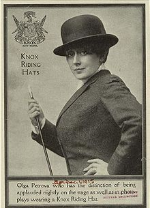 vaudeville olga petrova | Olga Petrova presents a Knox Riding Hat , 1915