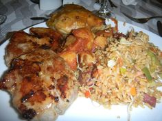Chinese rice with roasted chicken #food #southamerica