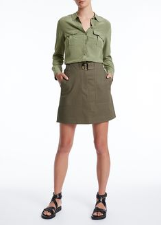 MARCS   Skirts & Shorts - CLARA SKIRT Viscose Fabric, Short Skirts, Mini Skirts, Military Jacket, Shop Now, September, Women Wear, Female