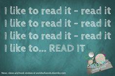 I Like to read it