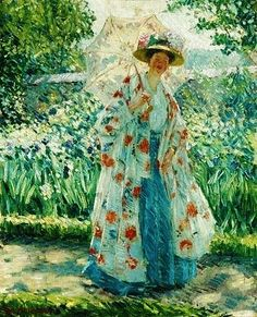 Frederick Carl Frieseke - The Walk - Frederick Carl Frieseke