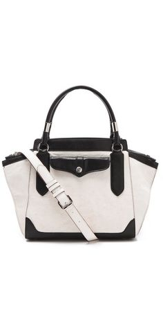 Another great black & white bag for spring 2013--the Rebecca Minkoff MAB Mini Satchel.