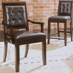 American Drew Tribecca Leather Side Chair - Set of 2 USD Upholstered Arm Chair, Dining Arm Chair, Kitchen Chairs, Kitchen Dining, Dining Room, Lounge Sofa, Diy Chair, Chairs For Sale, Side Chairs