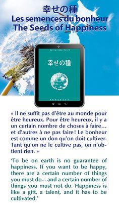 """Japon ! Nouveau livre électronique : """"Les semences du bonheur"""", disponible aussi en français / Japan! New eBook: 'The Seeds of Happiness', also available in English"""