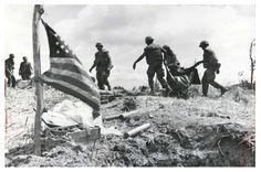 Marines carrying one of there own, Hill 881