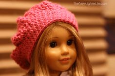 American-Girl-Beret-Crochet. Just made this. Pretty easy to follow.