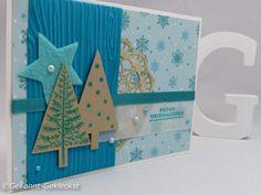 Gekonnt-Gekleckst #weihnachtskarten  Tannenbaustanze